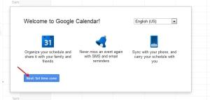 Timezone Google calendar